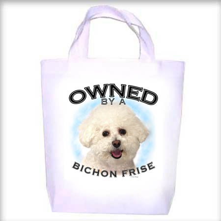 Bichon Frise Owned Shopping - Dog Toy - Tote Bag