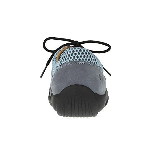 Schnürer für amp; Leder echtem G H Damen aus Weite Blau tessamino Trekking Einlagen Uxa6f6