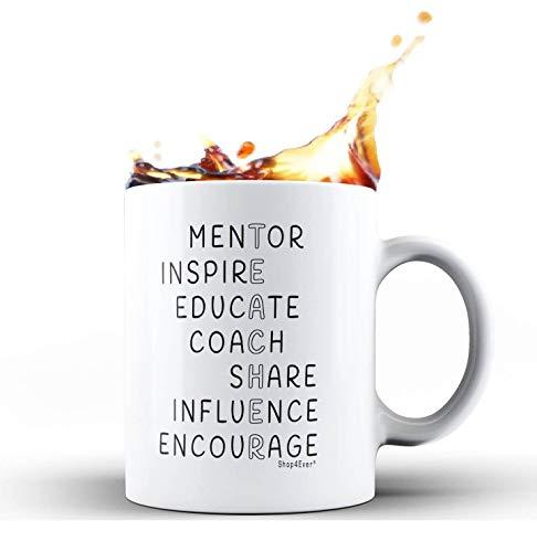 Shop4Ever Inspirational Teacher Ceramic Coffee Mug Tea Cup Gift ~ Teacher Appreciation Day ~ (White, 11 oz.)