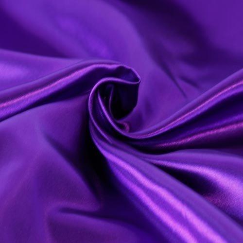Dark Purple Satin - SOLID SATIN FABRIC - PURPLE - 60