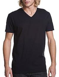 Men's Premium Fitted Short Sleeve V-Neck T-Shirt (Pack Of 3)