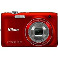 Nikon COOLPIX S3100 14 MP Digital Camera with 5x NIKKOR Wide-Angle Optical Zoom Lens and 2.7-Inch LCD (Red)