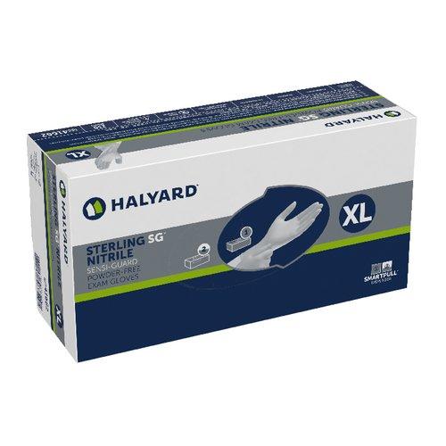 Halyard Health 41662-bx SG Nitrile Sensiguard Pf Exam Gloves, XL, Shape, X-Large, Sterling (Pack of 230)