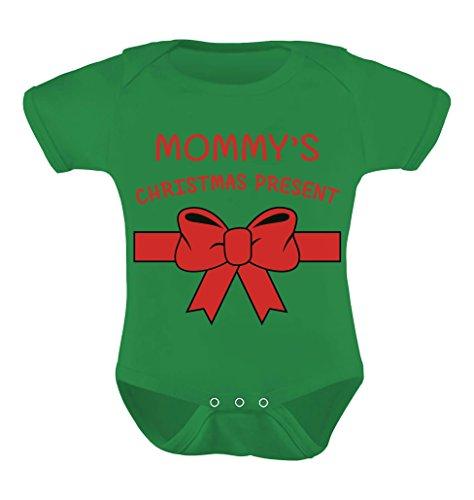 TeeStars - Mommy's Christmas Present - Baby Grow Vest Cute Xmas Baby Bodysuit Newborn Green (Mom Ideas Xmas)