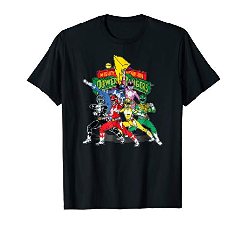 Vintage Power Rangers Mighty Morphin Time T-Shirt