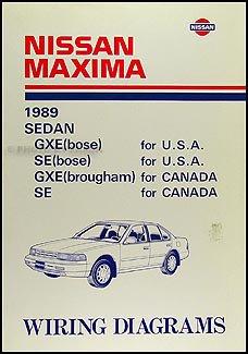 1989 nissan maxima wiring diagram manual original nissan amazon