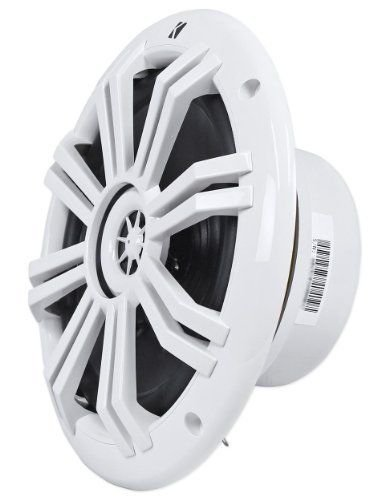 4 x Kicker 41KM604W 6.5'' Marine Boat Coaxial White Speakers Combo Bundle With Enrock EKMB500ABT 400W 4-Channel Marine Car Bluetooth Amplifier + Pyle PLMRAKT8 8 Gauge Marine Amplifier Installation Kit by Enrock Kicker Pyle (Image #5)
