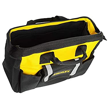 STANLEY STST512114 12'' Multipurpose Tools Storage Water Proof Open Mouth Bag (Yellow-Black) 14