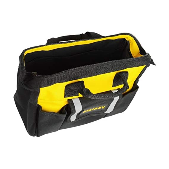 STANLEY STST512114 12'' Multipurpose Tools Storage Water Proof Open Mouth Bag (Yellow-Black) 7