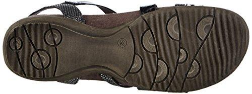 Tamaris Damen 28400 Offene Sandalen mit Keilabsatz Braun (BROWN COMB 098)