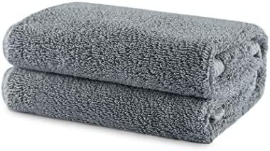 IMISSYOU Cotton Towel Premium 100% Combed Cotton Towel Daily Use Face/Hand Bath Towel Fade Resistant Super Absorbent 520 GSM (Grey)