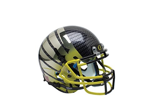 NCAA Oregon Ducks Wing Yellow Fade Replica Helmet, One Size by Schutt