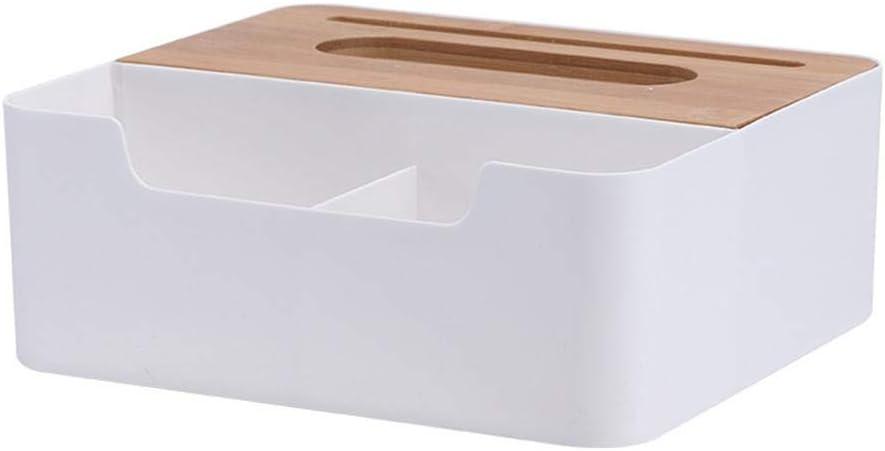 chambre /à coucher blanc coiffeuse et d/écoration de la maison Bo/îte /à mouchoirs multifonction en bambou pour papier toilette rectangulaire pour cuisine salon