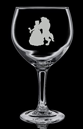 Beauty and The Beast 1 Gin Balloon Glass, Hand Etched, Gin And Tonic, 645 ml, 22.7oz vol Ideal Gift