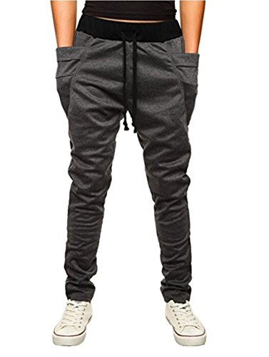 OBT Boy's Grey Slim Casual Cotton Comfy Skinny Running Jogger Pants 8