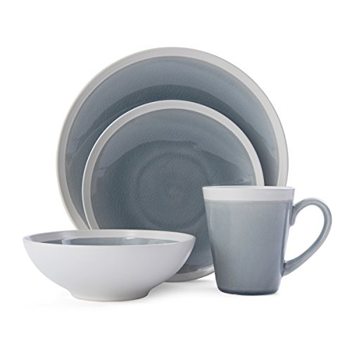 Mikasa 5229414 Brielle 16-Piece Dinnerware Set, Service for 4, Grey