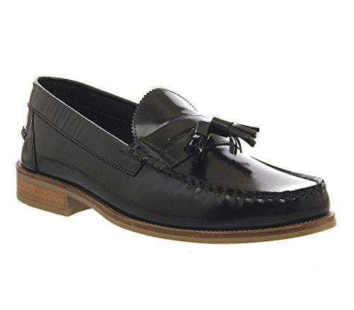 cheap really Ask The Missus Bonjourno Tassel Loafers Black Hi Shine Leather find great online DVx51JG