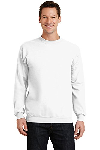 Port & Company Men's Classic Crewneck Sweatshirt XXL White