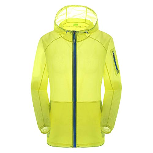 Unisex Lightweight Hooded Packable Jacket UV Protect+Quick Dry Windproof Skin Coat for Women and Men Green