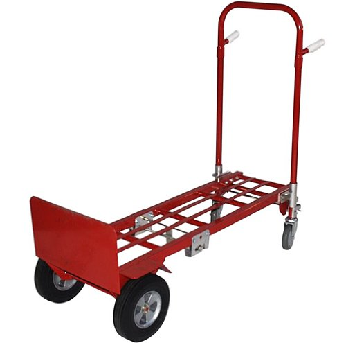 Milwaukee Hand Trucks 44180 Convertible Truck with 10-Inch Solid Puncture Proof Tires