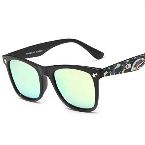 Sol Moda Gafas Grandes Green Sol Gafas De Gafas De Gold Señora Camuflaje De Polarized Polarizador Sol zaqgRY