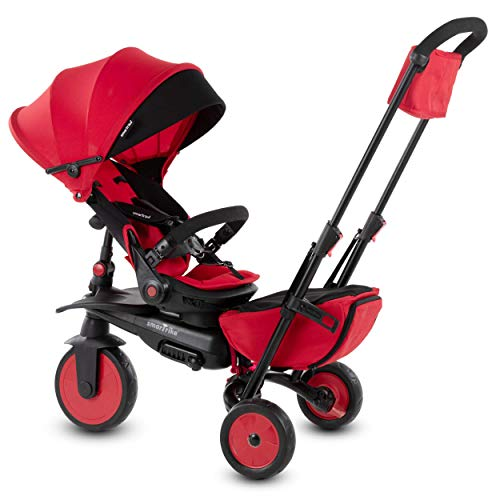 smarTrike STR7 Folding Baby Tricycle, Red