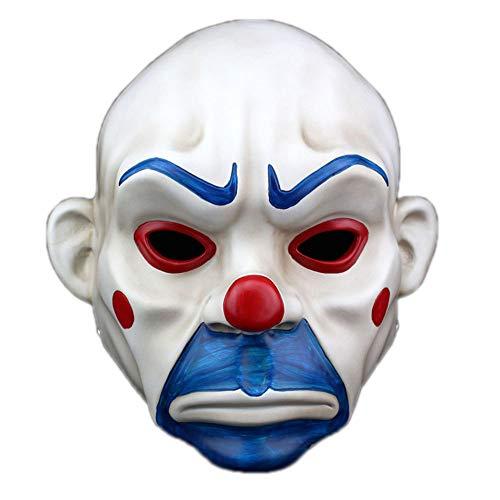 SEEKSUNGM Mask, Halloween Horror Mask, Batman, Dark Knight Clown, Dress Up Resin Mask, Size: 2724.5Cm]()