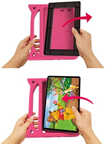 "New Fire HD 10 Tablet Case 2019/2017-SHREBORN LightWeight ShockProof Kid-Proof Cover with Stand Kids Case for All New Amazon Fire HD 10 Tablet(10.1"",ninth/seventh/fifth Generation,2019/2017/2015 Release)-Pink"