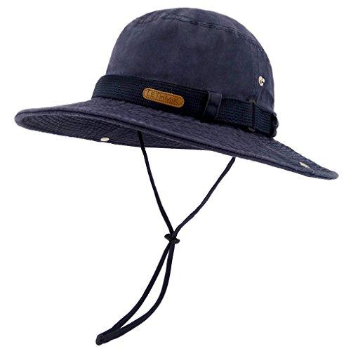 Navy Blue Brush Cotton Hat - 1