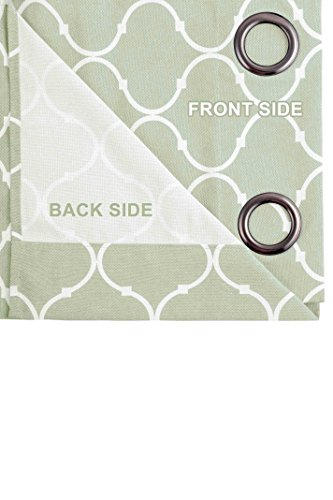 Contemporary Moroccan Trellis Design Classy Top Grommet 2 Panel Window Curtain 76 by 84