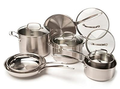 CUISINART 12-Piece Stainless Steel Cookware Set, Chrome by CUISINART