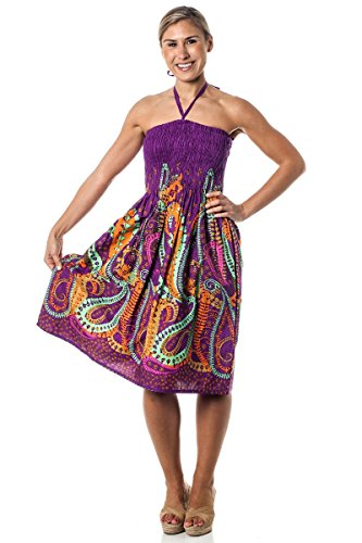 One-Size-fits-Most Tube Dress/Coverup - Crazy Paisley Purple