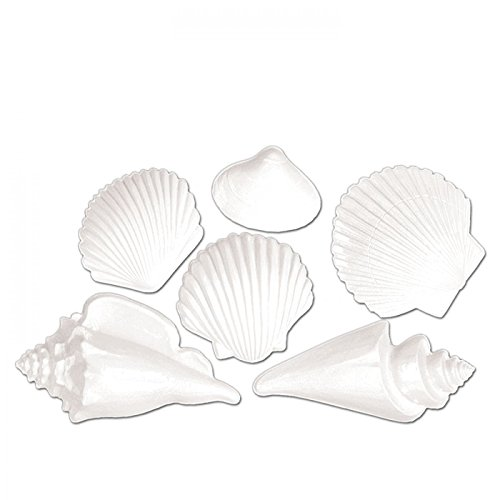 Beistle White Plastic Seashells