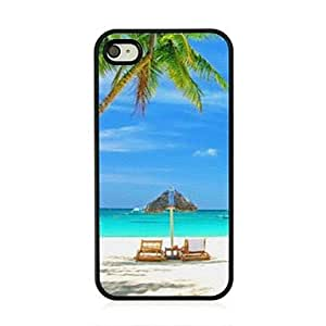YULIN Sandy Beach Leather Vein Pattern Hard Case for iPhone 4/4S