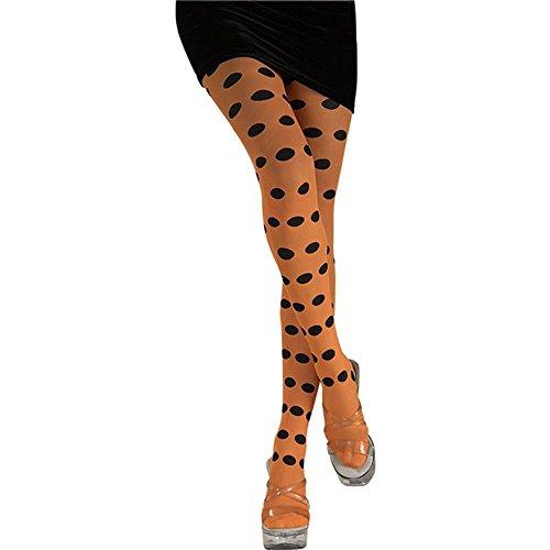 Rubie's Costume Co Polka Dot Orange Tights Costume