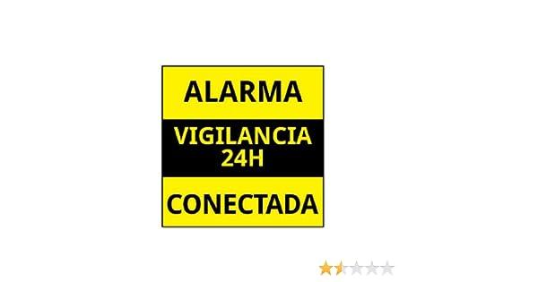 PEGATINA DE CARTEL ALARMA CONECTADA VARIOS MODELOS DISUASORIOS CARTELES VIGILANCIA: Amazon.es: Electrónica