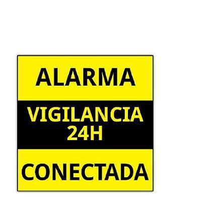 PEGATINA DE CARTEL ALARMA CONECTADA VARIOS MODELOS DISUASORIOS CARTELES VIGILANCIA