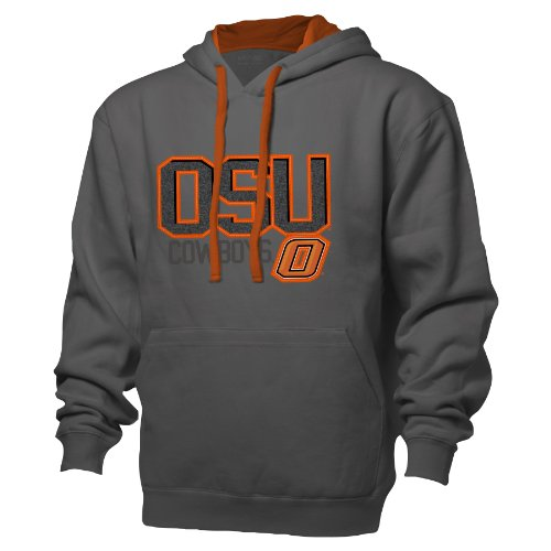 NCAA Oklahoma State Cowboys Benchmark Colorblock Pullover Hood, Small, Graphite/Athletic Orange (Oklahoma State Cycling Jersey)
