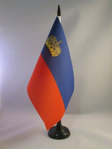 AZ FLAG Bandiera da Tavolo Liechtenstein 21x14cm - Piccola BANDIERINA LIECHTENSTEINESE 14 x 21 cm