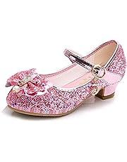 Amtidy Flower Girls Dress Wedding Party Bridesmaids Heel Mary Jane Princess Shoes