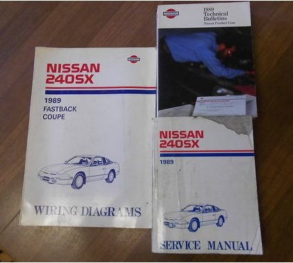 1989 nissan 240sx serice repair shop manual set factory oem book 89 rh amazon com
