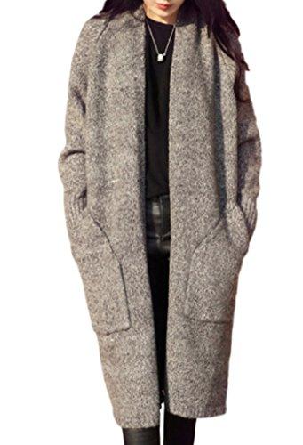 [セオヴェル]THEOVEL レディース ニット ロング カーディガン コート 厚手 あたたか 秋 冬 カラー