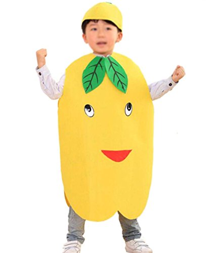 ANDES Child Party Clothing Yellow Pear Costume Suit for Christmas Holidy (Pear)