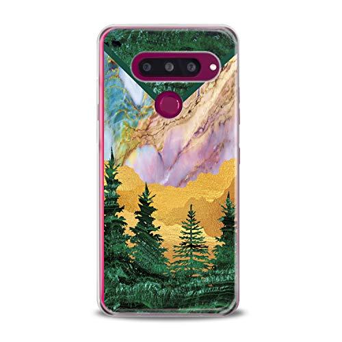 Lex Altern LG TPU Case Stylo 4 K11 G7 ThinQ G6 V40 V35 Plus V20 Q8 K8 Green Tree Cover Marble Clear Phone Beautiful Print Desert Protective Modern Design Girl -