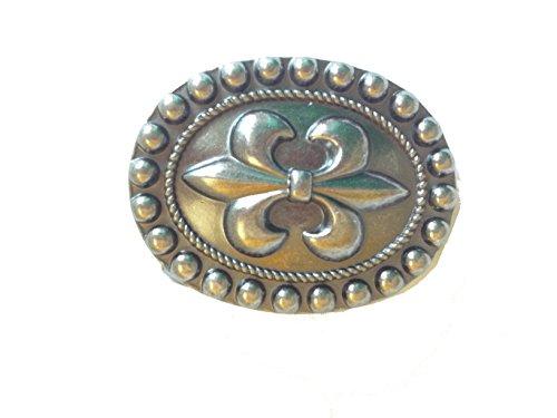 Diesel Buckle Closure Belt (Vintage Design Fleur de Lis,French Flower Lily,Belt Buckle for Leather)