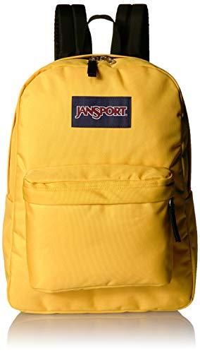 JanSport Superbreak Backpack - Lightweight School Pack, Yellow Spectra