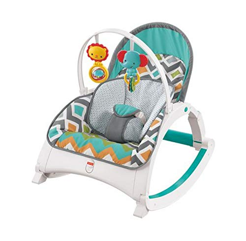 Fisher-Price Newborn-to-Toddler Rocker - Glacier Wave [Amazon Exclusive]