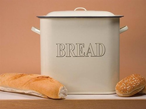 Falcon Enamel 34cm Oblong Bread Bin Cream [Kitchen & Home] by Country