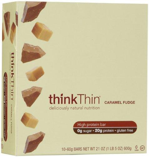 thinkThin Bar Caramel Fudge - 2.1 oz - 10 pk