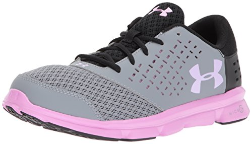 Under Armour Girls' Grade School Micro G Rave, Steel (036)/Black, 3.5 by Under Armour